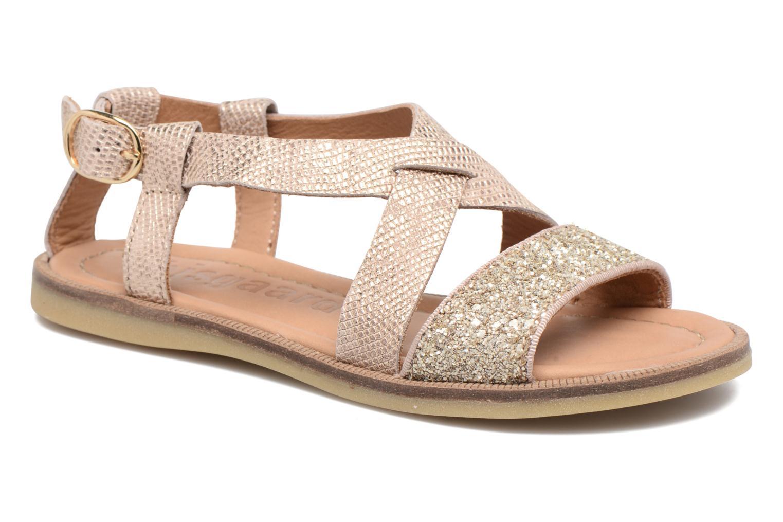 Sandales et nu-pieds Bisgaard Mia Or et bronze vue détail/paire