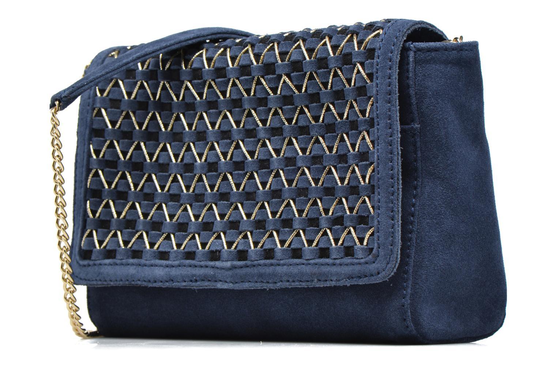 Sacs à main Petite mendigote Mayfair Bleu vue portées chaussures
