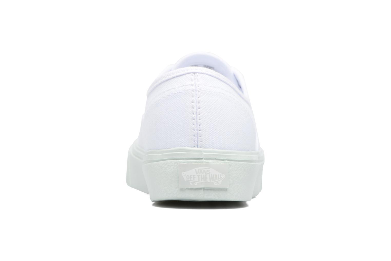Baskets Vans Authentic Lite W Blanc vue droite