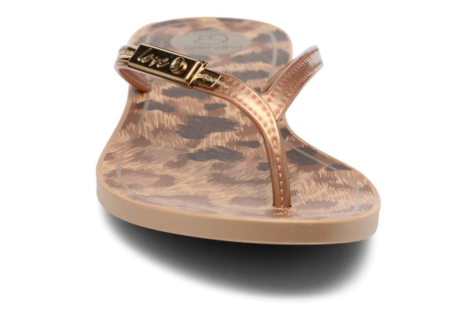 Flip flops Grendha Paixao Thong Bronze and Gold model view