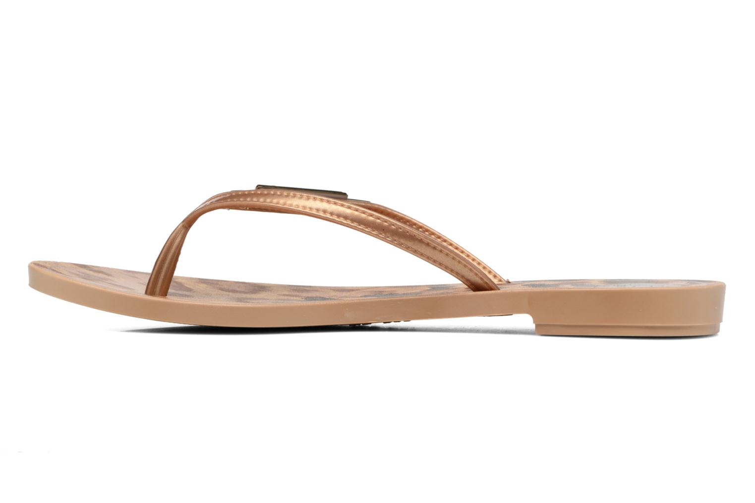 Flip flops Grendha Paixao Thong Bronze and Gold front view