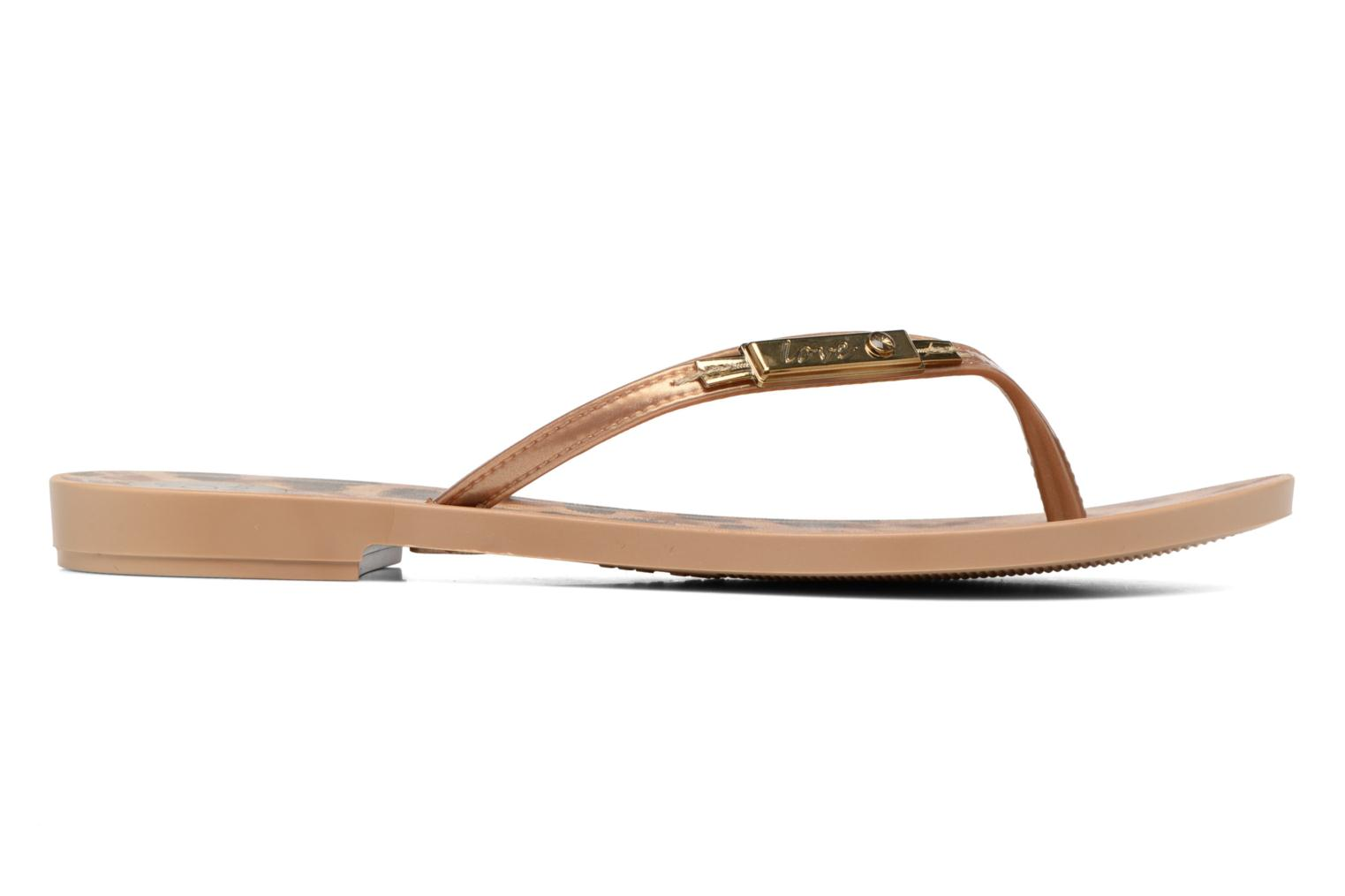 Flip flops Grendha Paixao Thong Bronze and Gold back view