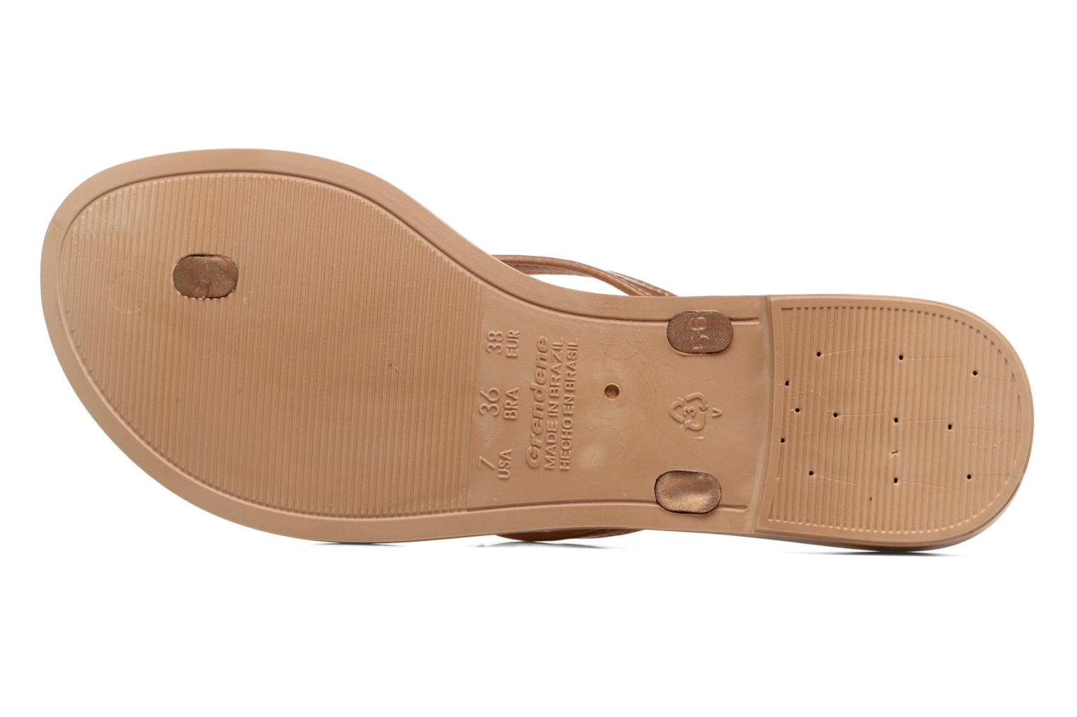 Flip flops Grendha Paixao Thong Bronze and Gold view from above