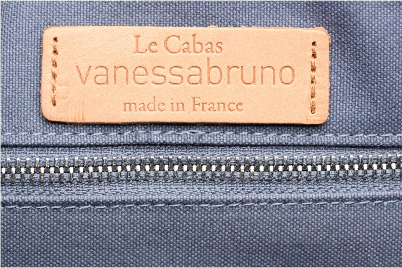 Sacs à main Vanessa Bruno Cabas coton paillettes M+ Bleu vue gauche