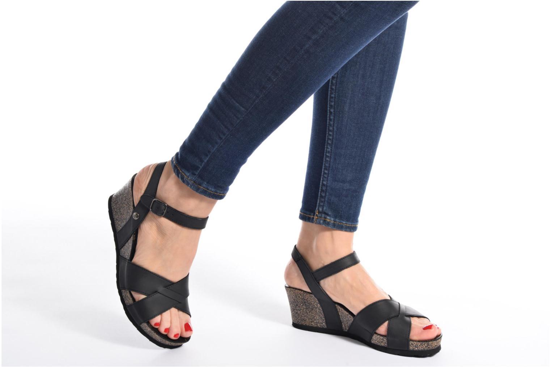Sandales et nu-pieds Panama Jack Vika Marron vue bas / vue portée sac