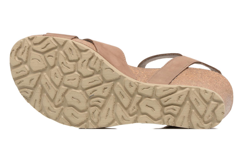 Sandales et nu-pieds Panama Jack Vika Marron vue haut