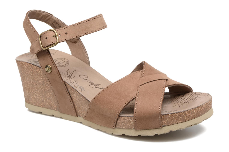 Sandales et nu-pieds Panama Jack Vika Marron vue détail/paire