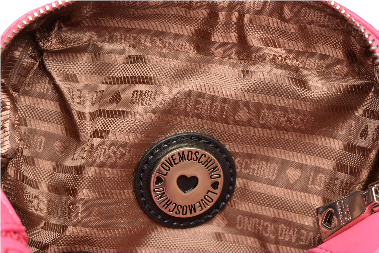 Sacs à main Love Moschino Embossed logo Crossbody Rose vue derrière