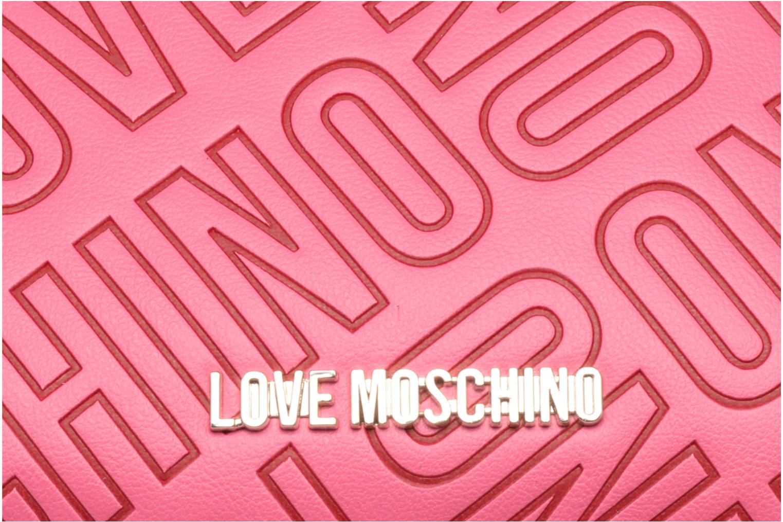 Sacs à main Love Moschino Embossed logo Crossbody Rose vue gauche