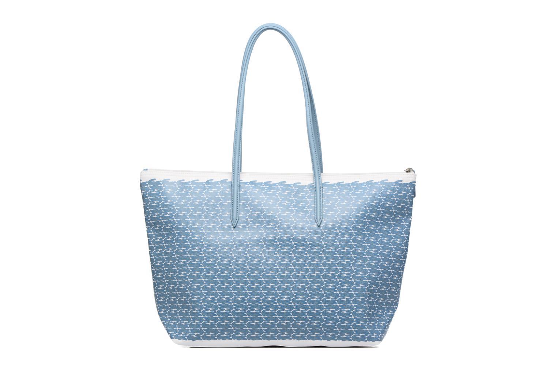 Sacs à main Lacoste L1212 Shopping bag Croc L Bleu vue face