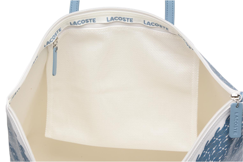 Sacs à main Lacoste L1212 Shopping bag Croc L Bleu vue derrière