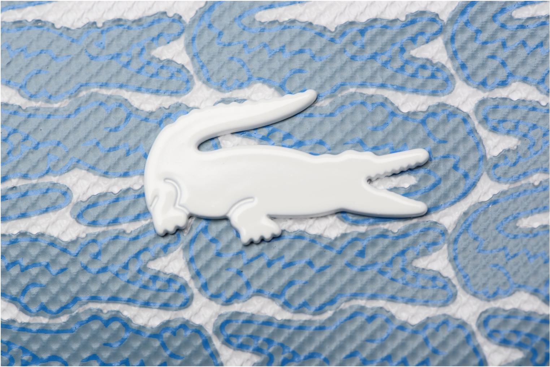 Sacs à main Lacoste L1212 Shopping bag Croc L Bleu vue gauche