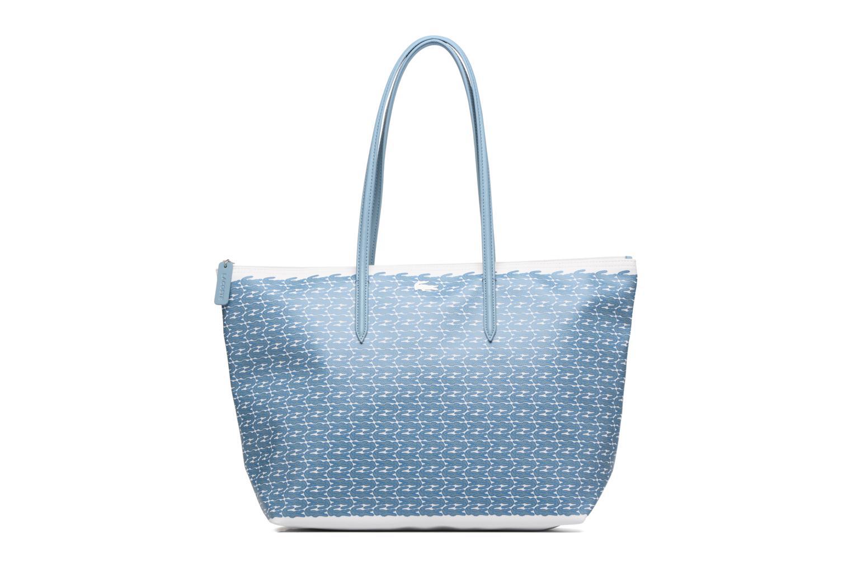 Sacs à main Lacoste L1212 Shopping bag Croc L Bleu vue détail/paire
