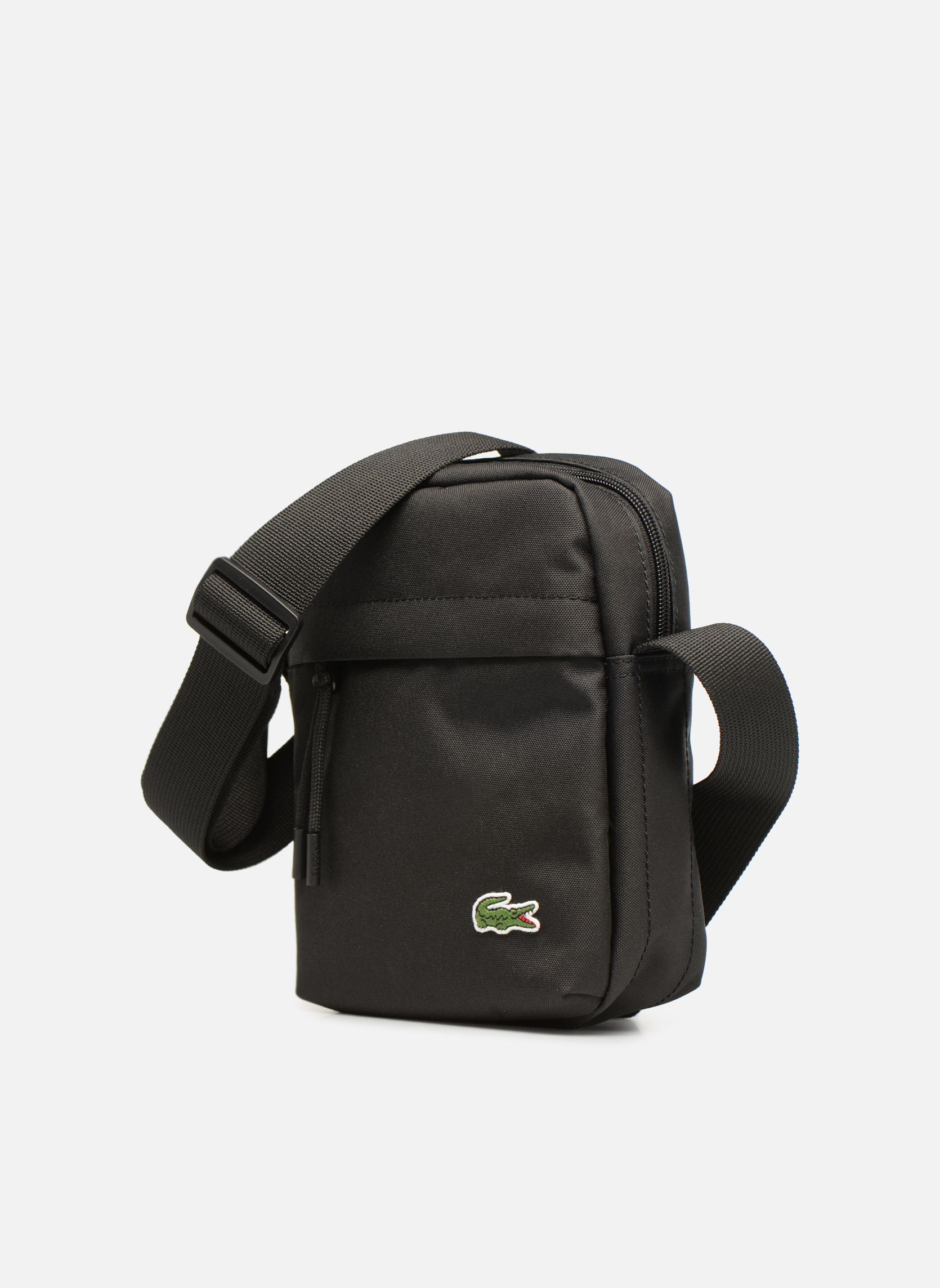 Herrentaschen Lacoste Neocroc Vertical Camera Bag schwarz schuhe getragen