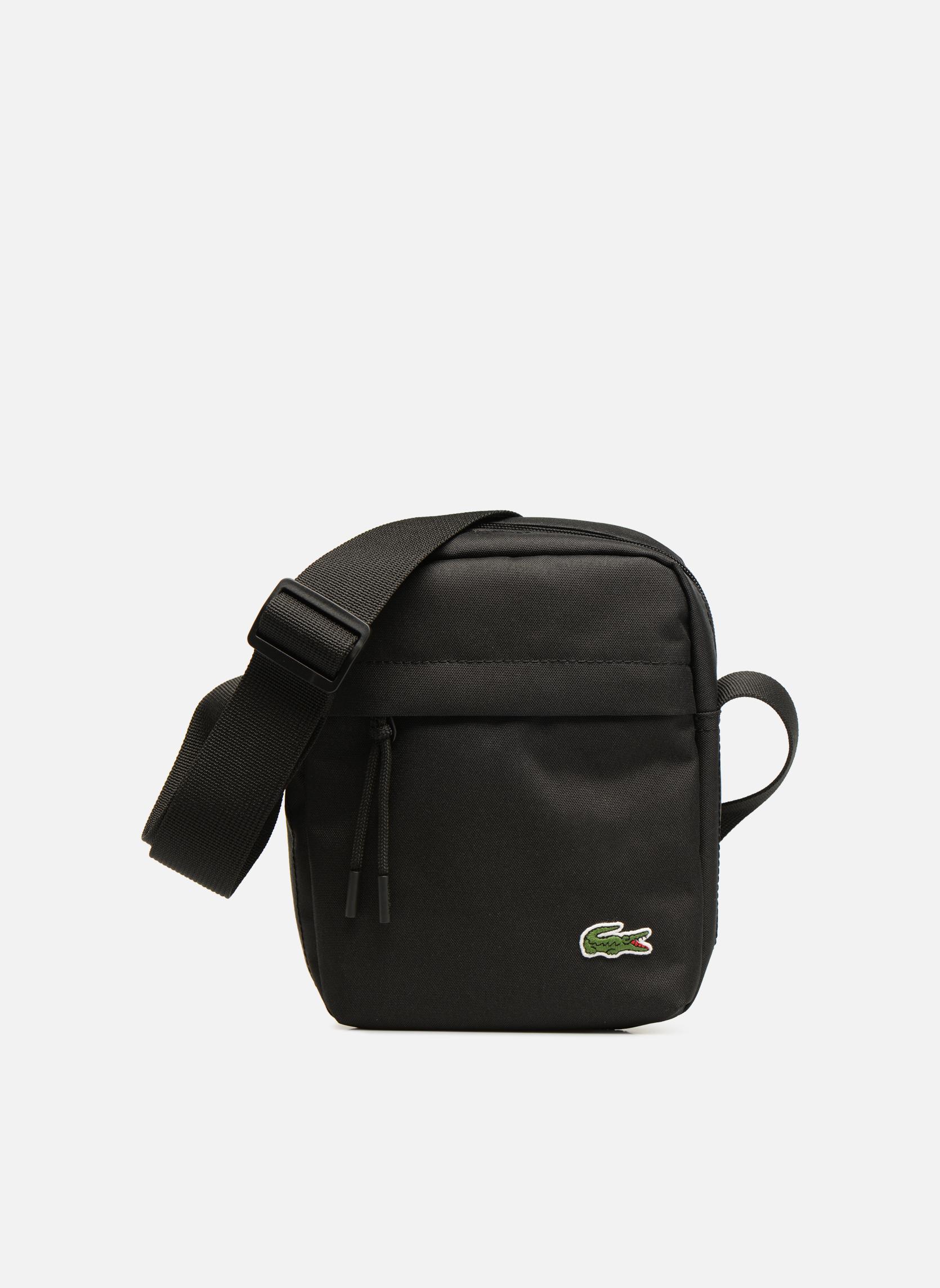 Herrentaschen Lacoste Neocroc Vertical Camera Bag schwarz detaillierte ansicht/modell