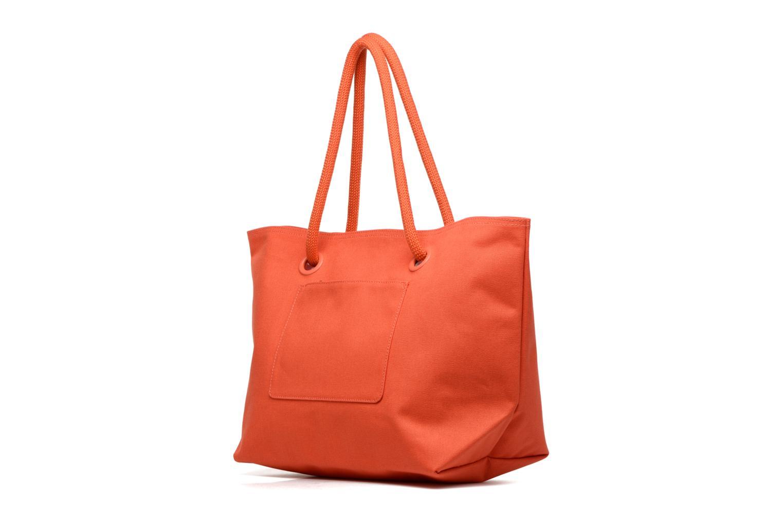 Sacs à main Lacoste Summer Shopping bag L Orange vue droite