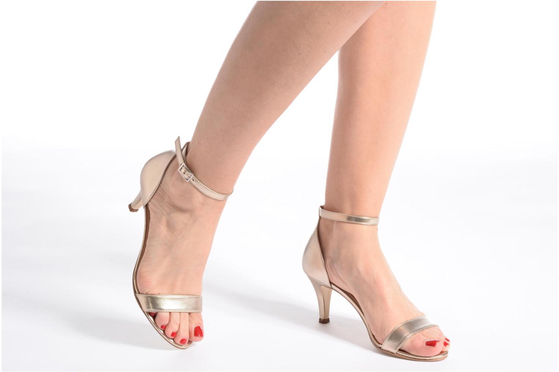 Sandales et nu-pieds Georgia Rose Esmi Or et bronze vue bas / vue portée sac