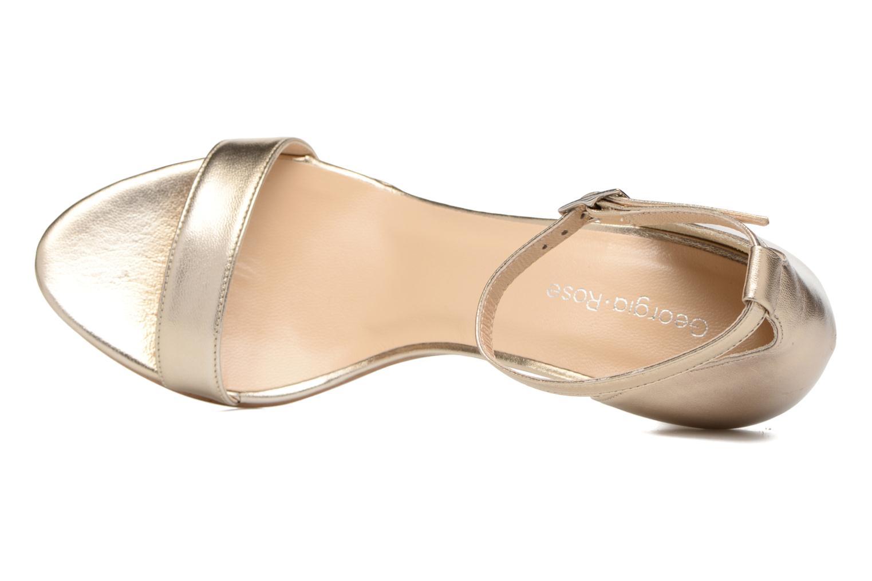 Sandales et nu-pieds Georgia Rose Esmi Or et bronze vue gauche