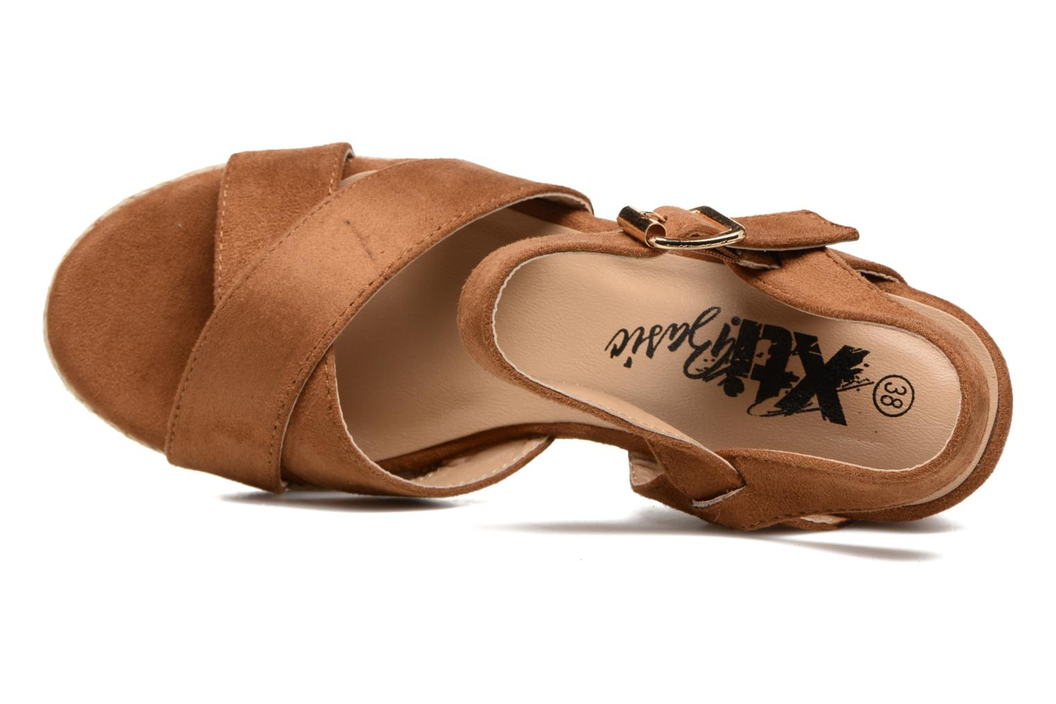 Sandals Xti Issum 33450 Brown view from the left