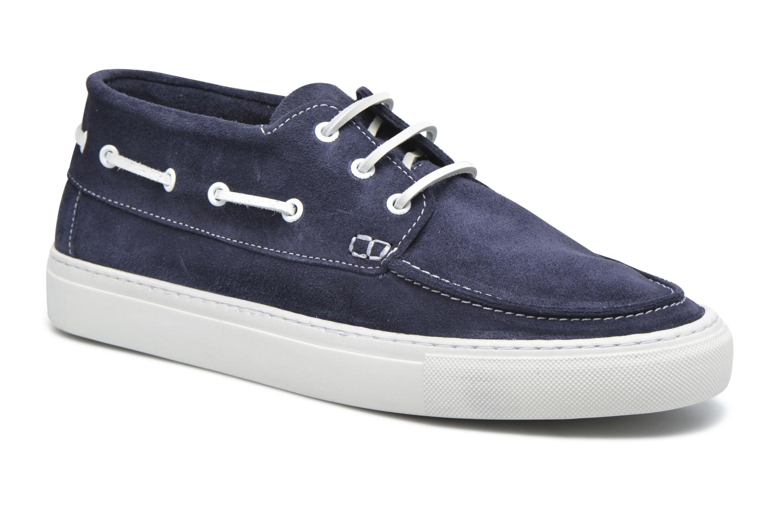 August Hightop Boat Shoe Dark Navy