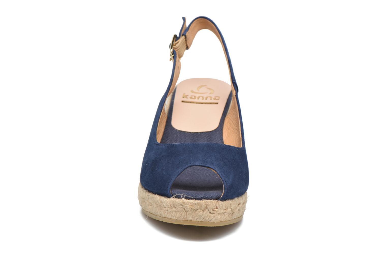 Espadrilles Kanna Sicla Bleu vue portées chaussures