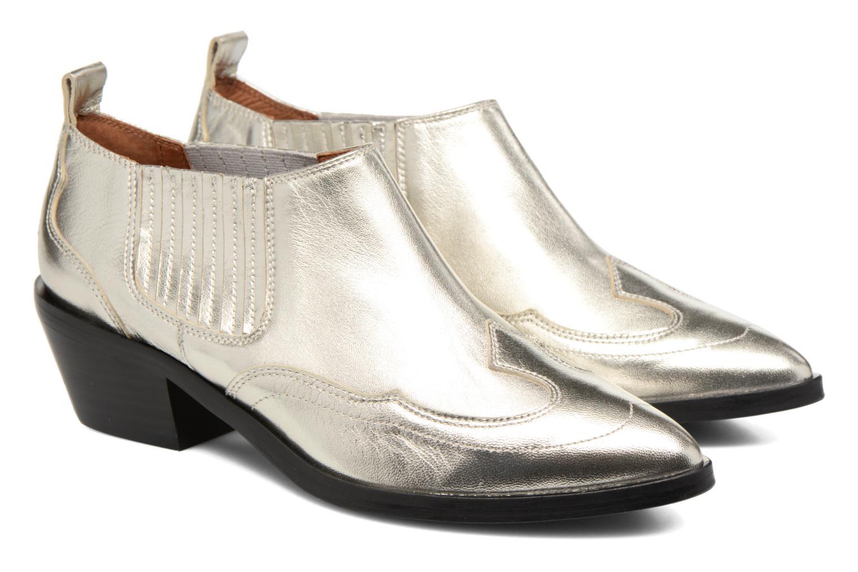 Ankelstøvler Made by SARENZA Rock-a-hula #2 Sølv se bagfra