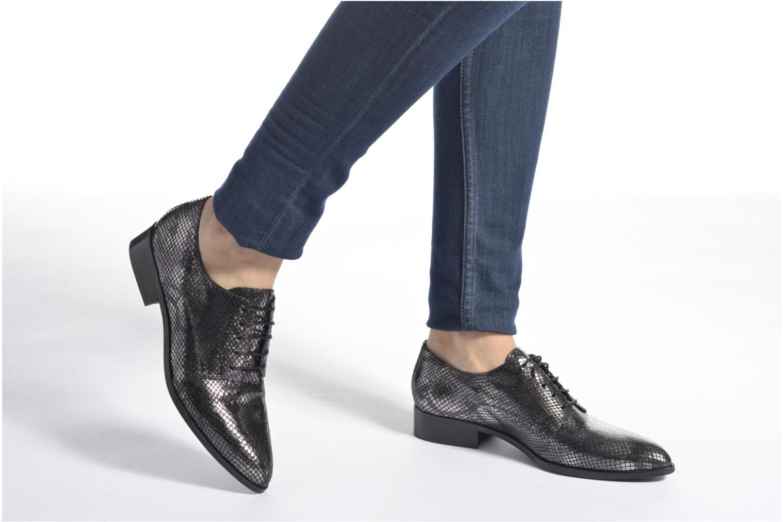 Zapatos con cordones Made by SARENZA Vegas Lipstick #6 Negro vista de abajo
