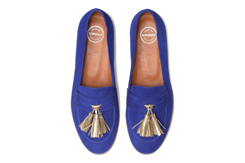 Bombay Babes Mocassins #2 Murças bleu electrique pompon galami doré