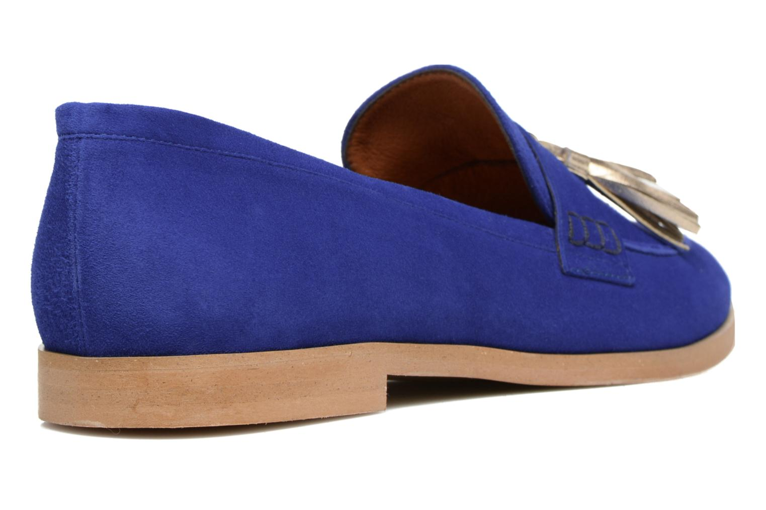 Loafers Made by SARENZA Bombay Babes Mocassins #2 Blue front view