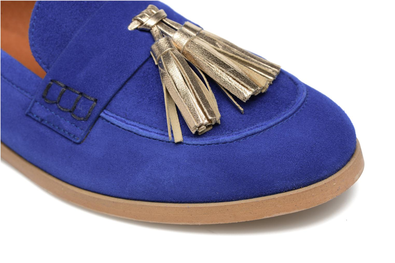 Loafers Made by SARENZA Bombay Babes Mocassins #2 Blue view from the left
