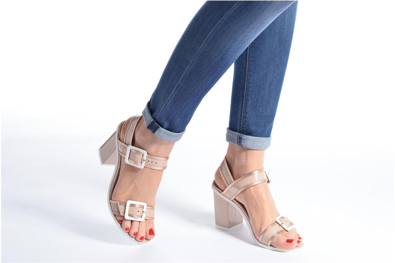 Sandales et nu-pieds Made by SARENZA Pastel Belle #5 Beige vue bas / vue portée sac