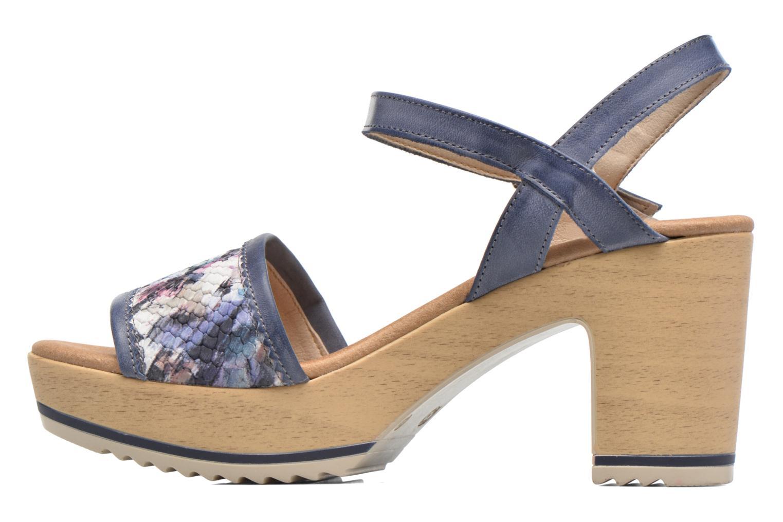 Sandales et nu-pieds Dorking Ubeda 7098 Bleu vue face