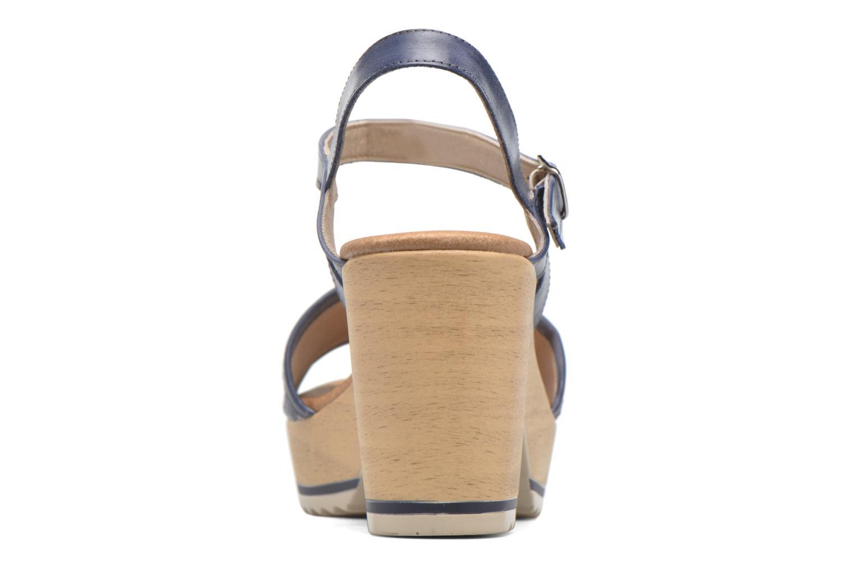 Sandales et nu-pieds Dorking Ubeda 7098 Bleu vue droite