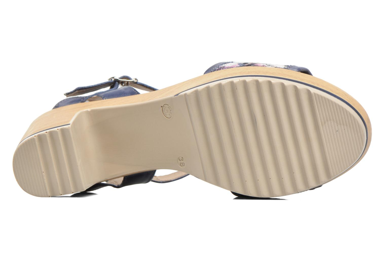 Sandales et nu-pieds Dorking Ubeda 7098 Bleu vue haut