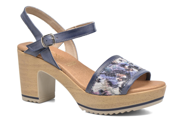 Sandales et nu-pieds Dorking Ubeda 7098 Bleu vue détail/paire