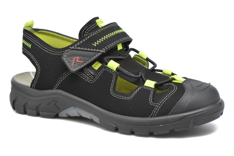 Sandaler Ricosta Reyk Sort detaljeret billede af skoene