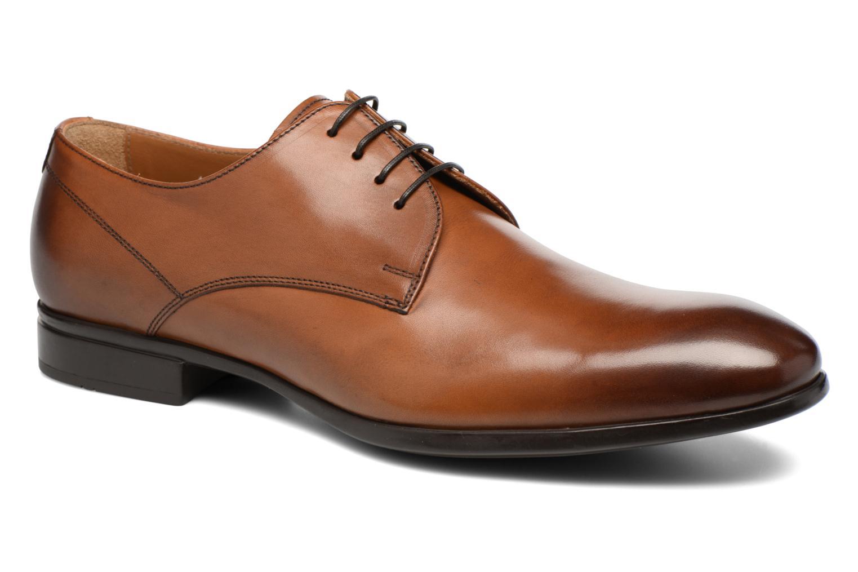 Snörade skor Doucal's OSCAR Vichy Brun detaljerad bild på paret