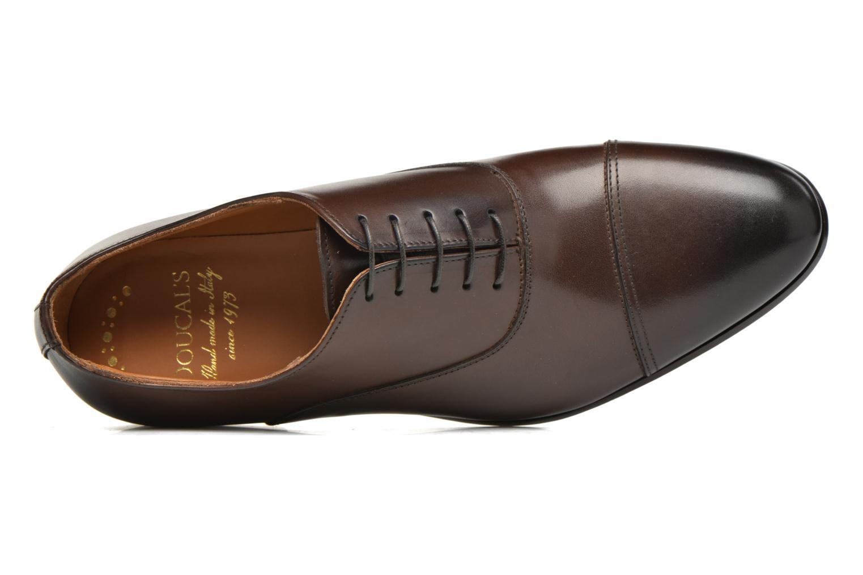 Snörade skor Doucal's SEBASTIANO Lione Brun bild från vänster sidan