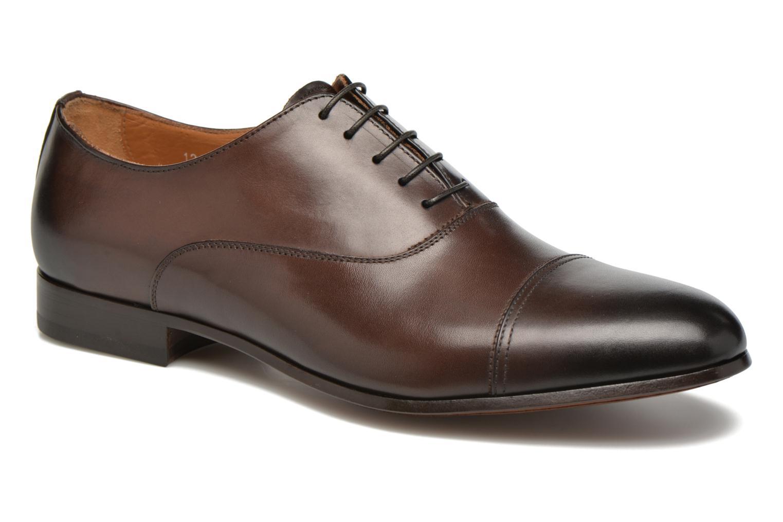 Snörade skor Doucal's SEBASTIANO Lione Brun detaljerad bild på paret