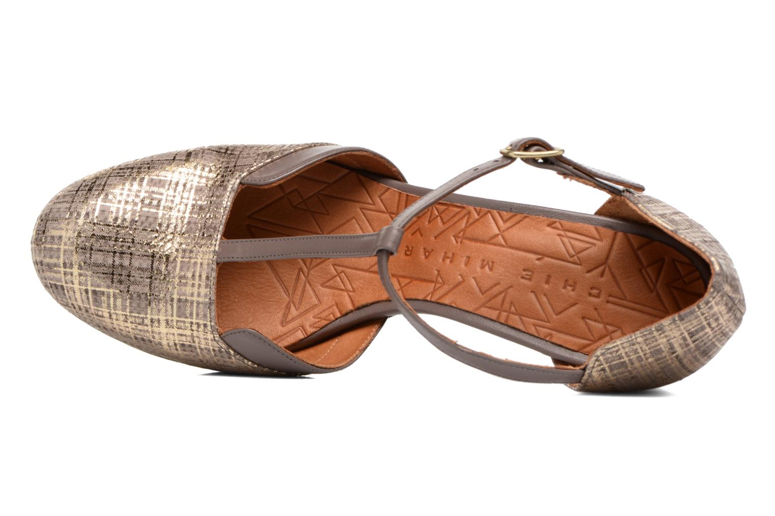 Sandals Chie Mihara Shogo Brown view from the left
