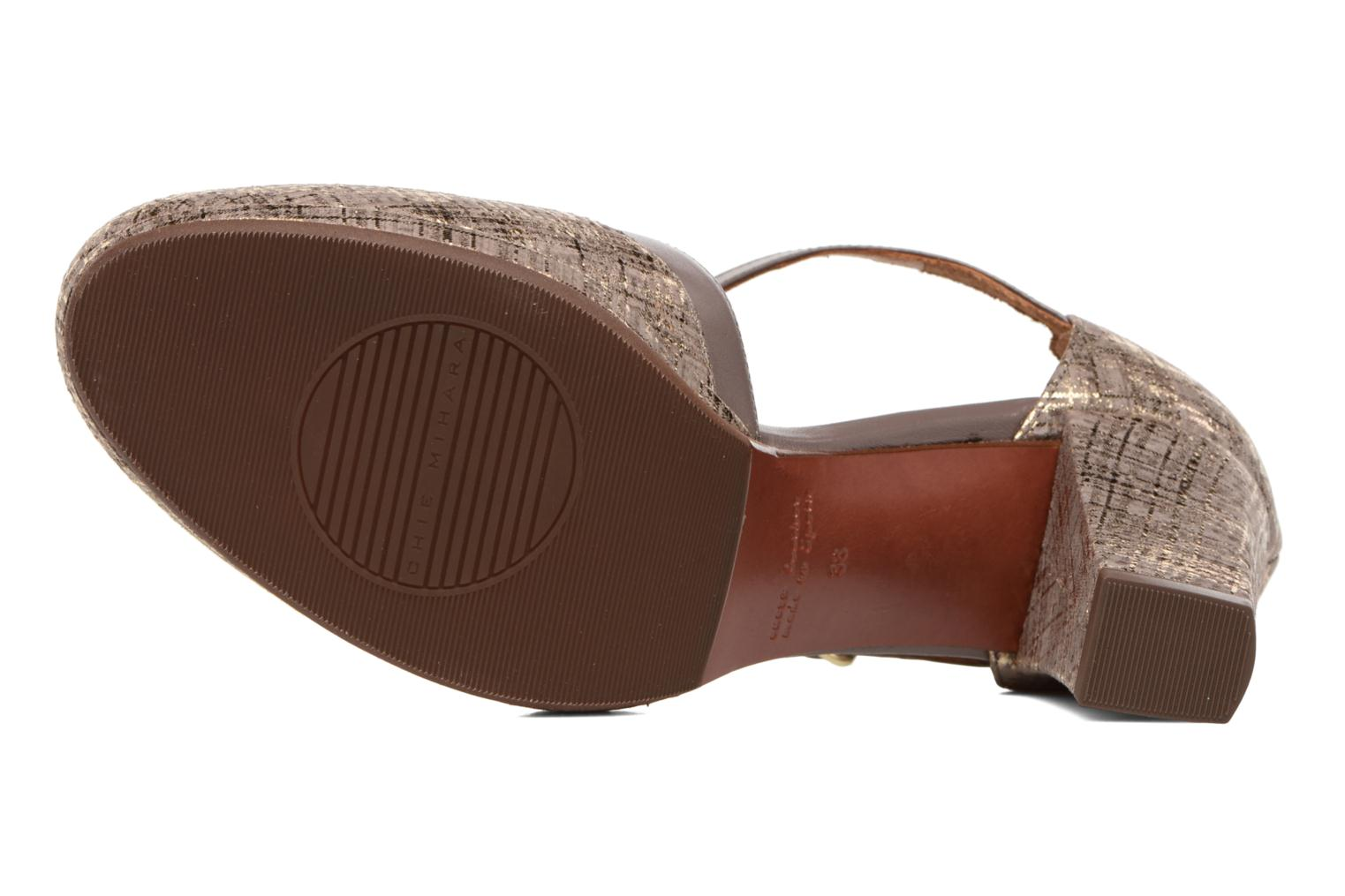 Sandals Chie Mihara Shogo Brown view from above