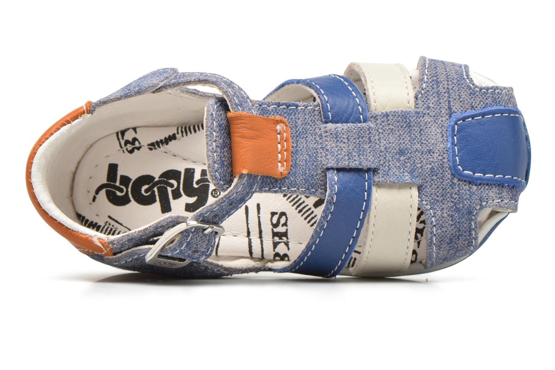 Sandalias Bopy Zinedine Azul vista lateral izquierda