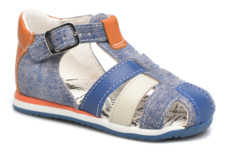 Sandals Bopy Zinedine Blue detailed view/ Pair view