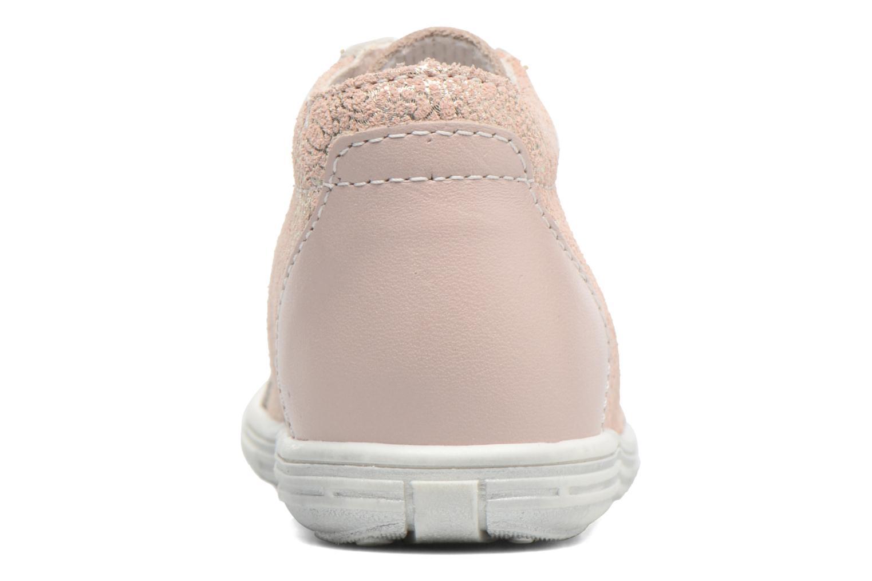 Zapatos con cordones Bopy Zental Rosa vista lateral derecha