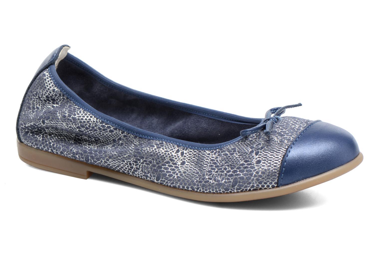 Ballerinaer Bopy Sanodi Blå detaljeret billede af skoene