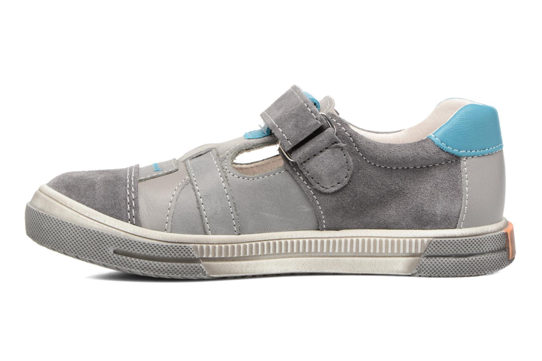 Zapatos con velcro Bopy Vadiso Gris vista de frente