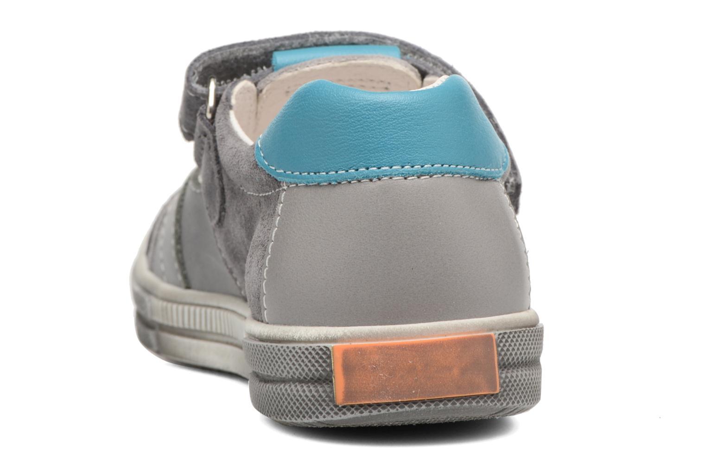 Zapatos con velcro Bopy Vadiso Gris vista lateral derecha