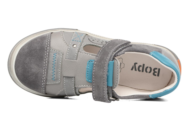 Zapatos con velcro Bopy Vadiso Gris vista lateral izquierda