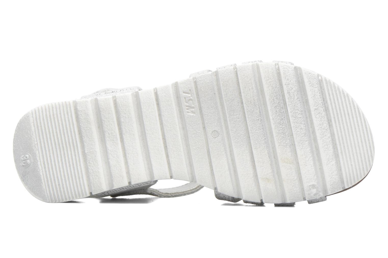 Sandales et nu-pieds Bopy Evali Argent vue haut
