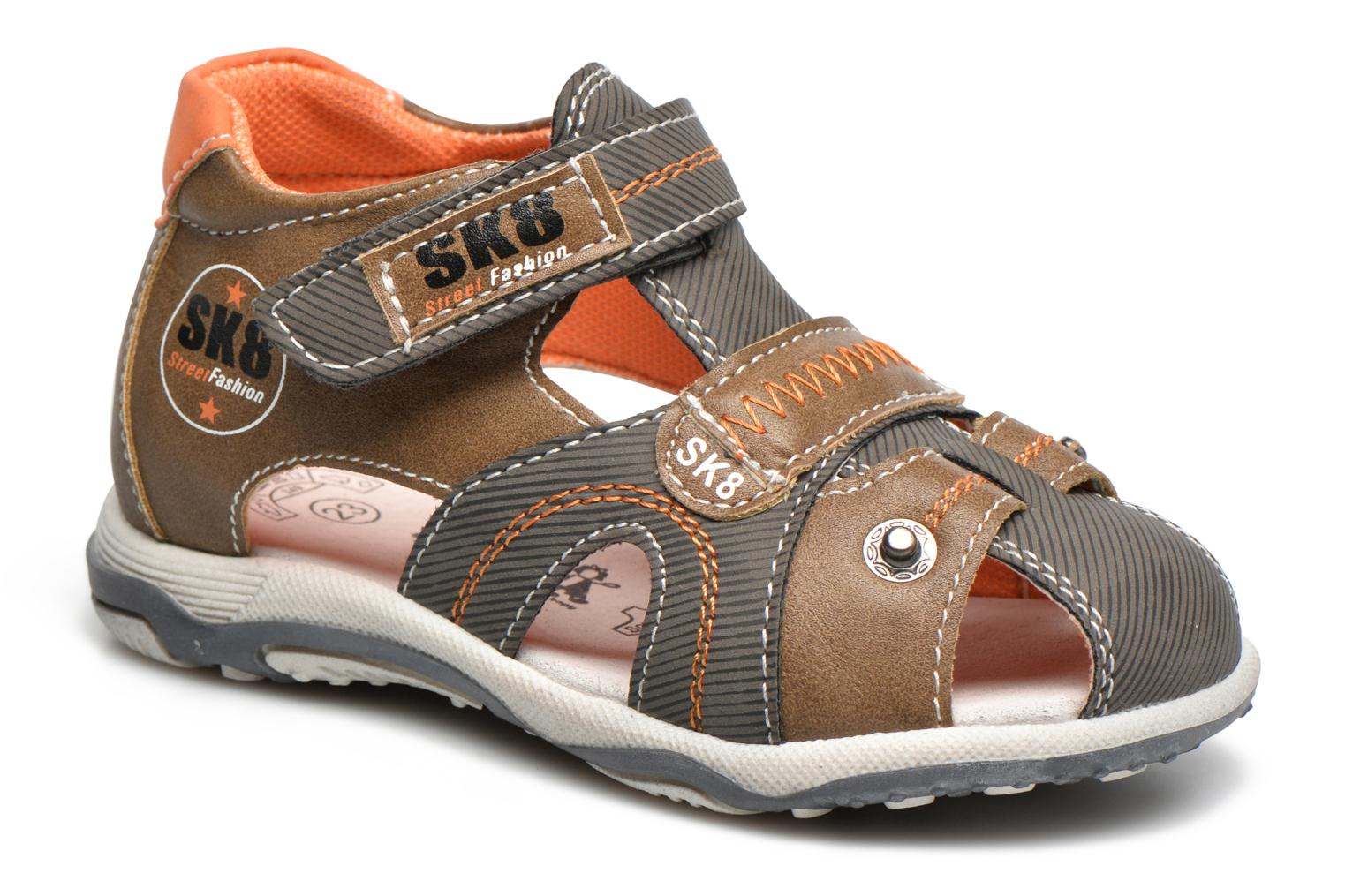 Sandals Bopy Navela Kouki Brown detailed view/ Pair view